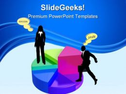 Pie Chart Business Success PowerPoint Templates And PowerPoint Backgrounds 0811