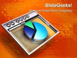 Pie Chart Internet PowerPoint Template 1110