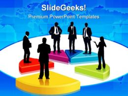 Pie Chart People PowerPoint Template 0810