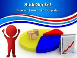 Pie Chart With Coins Finance PowerPoint Templates And PowerPoint Backgrounds 0811
