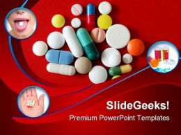 Pills Collage Health PowerPoint Templates And PowerPoint Backgrounds 0411