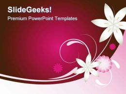 Pink And Brown Abstract PowerPoint Template 0910