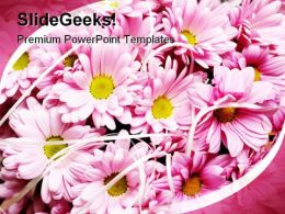 Pink Flowers Beauty PowerPoint Templates And PowerPoint Backgrounds 0311