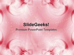 Pink Ribbon Abstract Background PowerPoint Templates And PowerPoint Backgrounds 0711