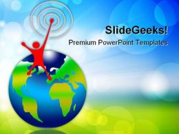 Planet And Target Globe PowerPoint Templates And PowerPoint Backgrounds 0311