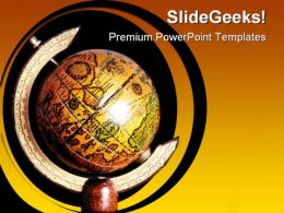 Planet Globe PowerPoint Template 0810