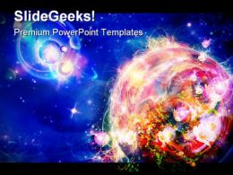 Planet Is In The Flowers Globe PowerPoint Templates And PowerPoint Backgrounds 0511