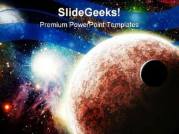 Planets In Space Earth PowerPoint Templates And PowerPoint Backgrounds 0711