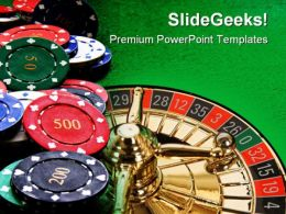 Poker Chips Lifestyle PowerPoint Templates And PowerPoint Backgrounds 0511