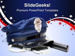 Police Uniform Americana PowerPoint Templates And PowerPoint Backgrounds 0811