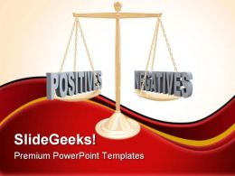 Positive And Negative Law PowerPoint Templates And PowerPoint Backgrounds 0911