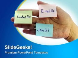 Post It Notes Internet PowerPoint Templates And PowerPoint Backgrounds 0311