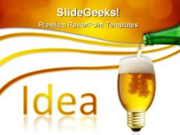 Pouring Idea Business PowerPoint Templates And PowerPoint Backgrounds 0811