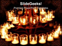 Prayer Candles Religion PowerPoint Backgrounds And Templates 1210