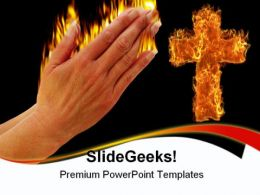 Prayer Of Fire Religion PowerPoint Templates And PowerPoint Backgrounds 0511