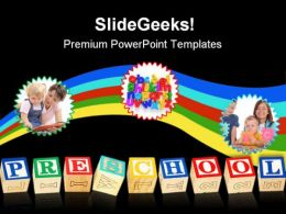 Preschool Education PowerPoint Template 1110