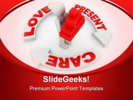 Present And Love Concept Metaphor PowerPoint Templates And PowerPoint Backgrounds 0811