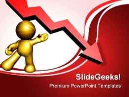 Presenting Down Turn Arrow Business PowerPoint Templates And PowerPoint Backgrounds 0811
