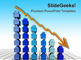 Prices Fall Real Estate PowerPoint Templates And PowerPoint Backgrounds 0811