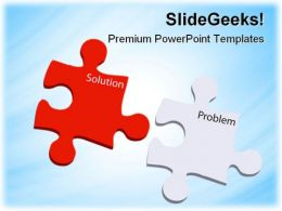 Problem And Solution Puzzles Business PowerPoint Templates And PowerPoint Backgrounds 0811