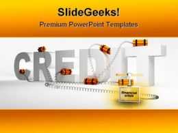 Problems With Credits Business PowerPoint Template 0910