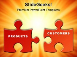 Products Customers Business PowerPoint Background And Template 1210