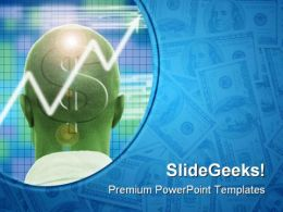 Profitable Brain Money PowerPoint Templates And PowerPoint Backgrounds 0811