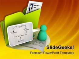 Project Map Business PowerPoint Templates And PowerPoint Backgrounds 0211