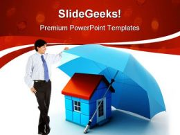 Property Insurance Security PowerPoint Templates And PowerPoint Backgrounds 0311