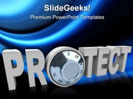 Protect Internet PowerPoint Template 1110