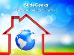 Protect The World Globe PowerPoint Templates And PowerPoint Backgrounds 0311