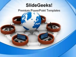 Protected Globe Network Global PowerPoint Templates And PowerPoint Backgrounds 0211