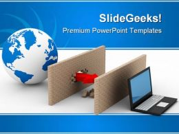 Protected Globe Network Security PowerPoint Templates And PowerPoint Backgrounds 0211