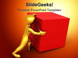 Pulling Box Business PowerPoint Backgrounds And Templates 0111