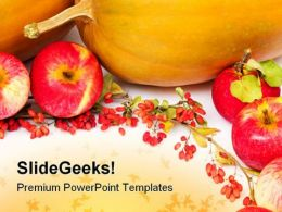 Pumpkins And Apples Halloween Festival PowerPoint Templates And PowerPoint Backgrounds 0411