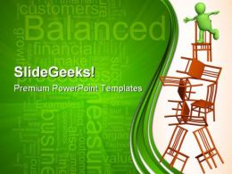 Puppet Balancing Business PowerPoint Templates And PowerPoint Backgrounds 0411