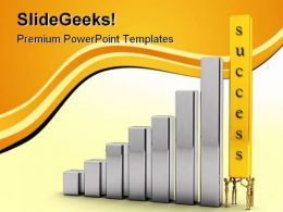 Pushing For Success Business PowerPoint Templates And PowerPoint Backgrounds 0311