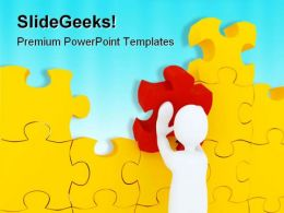 Putting Puzzle Metaphor PowerPoint Templates And PowerPoint Backgrounds 0711
