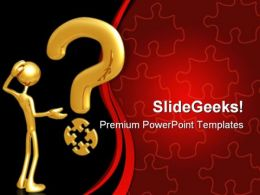 Puzzle And Question Business PowerPoint Templates And PowerPoint Backgrounds 0811