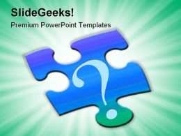 Puzzle And Question Metaphor PowerPoint Templates And PowerPoint Backgrounds 0811