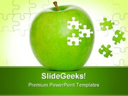Puzzle Apple Food PowerPoint Templates And PowerPoint Backgrounds 0711