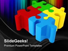 Puzzle Business PowerPoint Templates And PowerPoint Backgrounds 0211