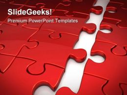 Puzzle Concept Business PowerPoint Templates And PowerPoint Backgrounds 0711