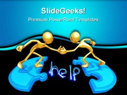 Puzzle Help Business PowerPoint Templates And PowerPoint Backgrounds 0711
