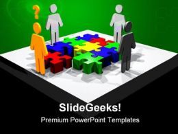Puzzle Idea Business PowerPoint Templates And PowerPoint Backgrounds 0511