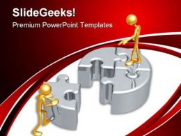 Puzzle Leadership PowerPoint Templates And PowerPoint Backgrounds 0511