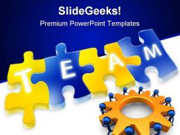 Puzzle Make Team People PowerPoint Backgrounds And Templates 1210