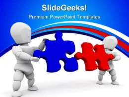 Puzzle Solution Business PowerPoint Templates And PowerPoint Backgrounds 0411