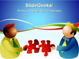 Puzzle Solution Business PowerPoint Templates And PowerPoint Backgrounds 0711