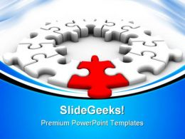 Puzzle Solution Leadership PowerPoint Templates And PowerPoint Backgrounds 0611